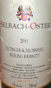 Selbach-Oster Zeltinger Schlossberg Kabinett totally .. rocked the cod