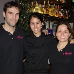 The Mexican partners Roger Creixams, chef Ana Vander and Claudia Roma, TP photo
