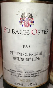 A case for cellaring Riesling, if ever there was one