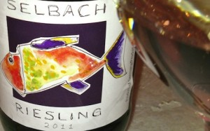 "Food friendly ""Fish"" label Riesling"