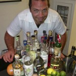 Eric Lorenz and an array of Mezcal