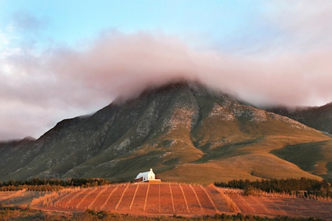 Ataraxia, on a ridge in The Cape's stunningly beautiful Hemel-en-Aarde region (courtesy Ataraxia Wines)